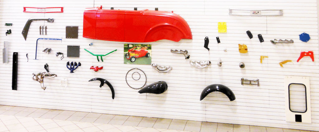 Powder coat Display
