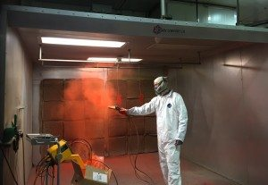 manual powder coat spray booth
